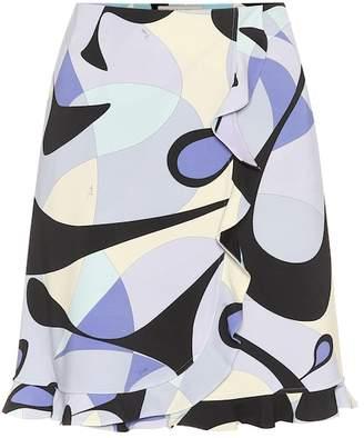 Emilio Pucci Printed jersey crepe miniskirt