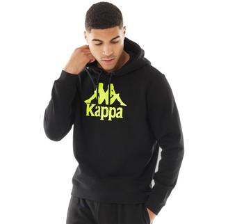 Kappa Mens Authentic Esmio Logo Hoodie Black/Yellow