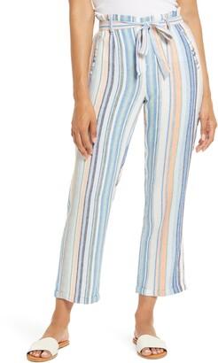 Caslon Stripe Tie Waist Pants