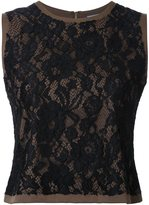 GUILD PRIME lace sleeveless blouse - women - Rayon - 34