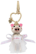 Betsey Johnson Holiday Giving Pig Bride Keychain