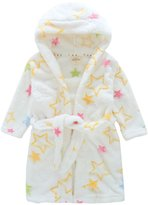 Happy Cherry Children's Robe Cartoon Flannel Bathrobe Five-pointed Star Sleepwear Size 100