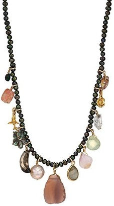 Chan Luu 18K Goldplated, Mixed Pearl & Multi-Stone Pink Necklace