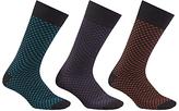 John Lewis Triangles Socks, Pack Of 3, Multi