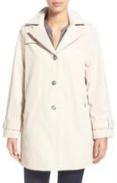 Larry Levine Women's A-Line Raincoat