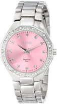 August Steiner Women's AS8044PK Diamond Swiss Quartz Bracelet Watch