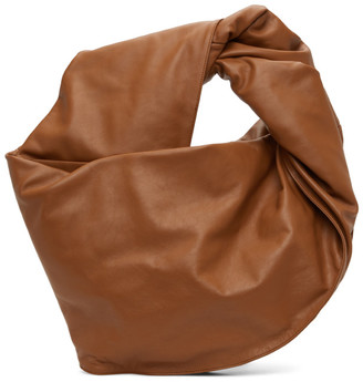 Y/Project Brown Leather Maxi Infinity Bag