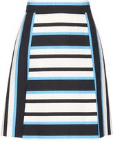 Dolce & Gabbana Tri-colour striped A-line skirt