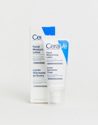 CeraVe PM lightweight hydrating facial moisturising lotion for normal to dry skin 52ml