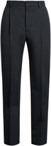 Lemaire Mid-rise pleated wool-twill trousers