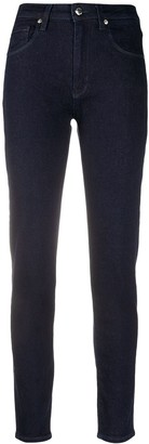 Love Moschino Mid-Rise Heart-Logo Jeans