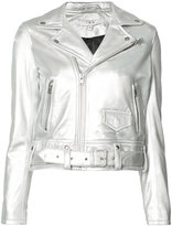 IRO cropped biker jacket - women - Lamb Skin/Polyester - 36