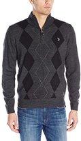 U.S. Polo Assn. Men's Soft Diamond Half-Zip Sweater
