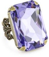 "Liz Palacios Arco Iris"" Swarovski Elements In Hand Crystal Cocktail Adjustable Ring"