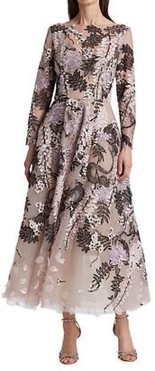 Marchesa Tulle Ankle-Length Dress