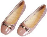 SFCSFLY Womens Simple Square Toe Flats Big Size Loafer Shoes Size US8.5 EUR40