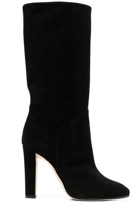 Alberta Ferretti Block-Heel Pull-On Boots