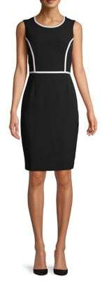 Kasper Piped Sheath Dress