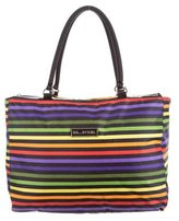 Sonia Rykiel Striped Nylon Tote
