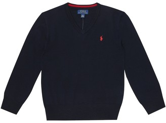 Polo Ralph Lauren Kids Wool V-neck sweater