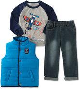 Kids Headquarters Little Boys' 3-Pc. Vest, T-Shirt & Pants Set