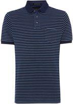 Howick Summer Indigo Stripe Pique Polo