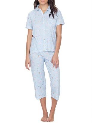 Lauren Ralph Lauren Floral Knit His Shirt Capri Pajama Set