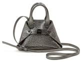 Akris Micro Ai Textured Leather Tote - Metallic