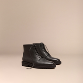 Burberry Lace-up Grainy Leather Boots