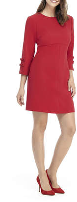 Gal Meets Glam Shift Dress with Bow Sleeve