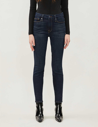 Good American Good Legs skinny high-rise stretch-denim jeans