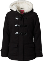 Pink Platinum Black Hooded Toggle Jacket - Infant & Girls