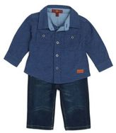 7 For All Mankind Baby's Two-Piece Shirt & Jeans Set