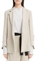 Victoria Beckham Women's Herringbone Linen Jacket