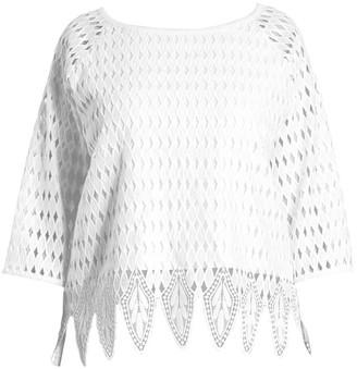 Joan Vass, Plus Size Crocheted Blouse