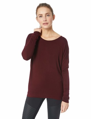 Andrew Marc Women's Long Sleeve Top with Strappy Back