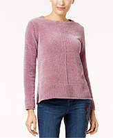 Style&Co. Style & Co Crew-Neck Chenille Sweater, Created for Macy's