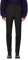 Haider Ackermann Black Wool Slim Trousers