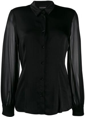 Emporio Armani sheer sleeved shirt