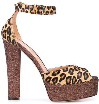 Madison.Maison Leopard Print Platform Sandals