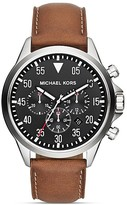 Michael Kors Men's Luggage Leather Gage Chronograph Watch, 45mm
