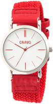 Crayo Womens Symphony Red Nylon-Band Watch Cracr2701