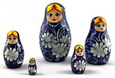 C2A Enterprise Blue Wooden Nesting Matryoshka Buy Russian Dolls, Children Gifts Home Design Ideas Baby Wooden Toys, 5pc