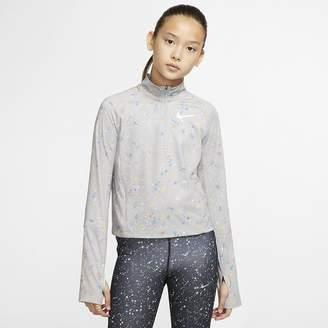 Nike Big Kids' (Girls') Long-Sleeve 1/2-Zip Top Pro Warm