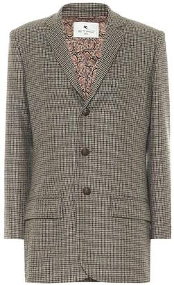 Etro Checked wool-blend blazer
