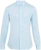 Prada Single-cuff cotton-poplin tuxedo shirt