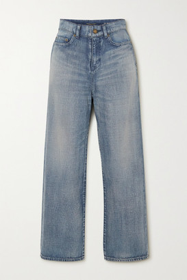 Saint Laurent High-rise Straight-leg Jeans - Blue