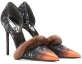 Balenciaga Fur-trimmed Pumps