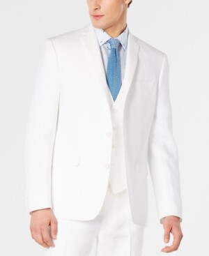 Bar III Men's Slim-Fit White Suit Jacket, Created for Macy's