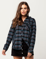 Metal Mulisha Speed Womens Hooded Flannel Shirt